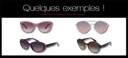 Exemples de lunettes de soleil ou solaires à choisir quand on a un visage losange, hexagonal ou diamant