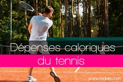 Dépenses énergétiques caloriques en calories consommées pour le tennis en simple ou en double