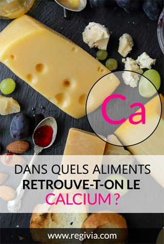 Dans quels aliments trouve-t-on le calcium ?