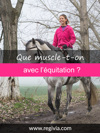 Que fait travailler et muscler l'équitation ?